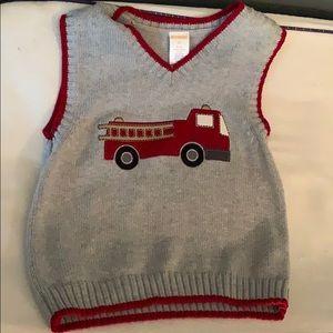 Gymboree Shirts & Tops - Gymboree train sweater vest 3t